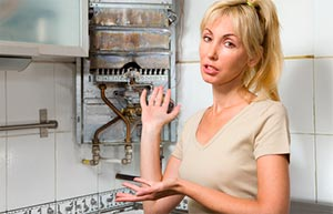 This woman does not work the boiler.