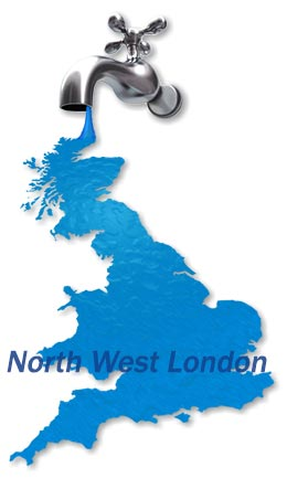 Map of North West London for find a plumber.