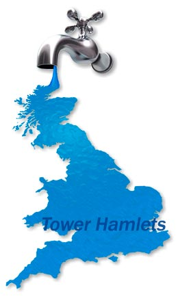 Map of Tower Hamlets Boiler Repair Services.