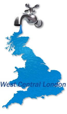 Map of West Central London Boiler Repair Services.